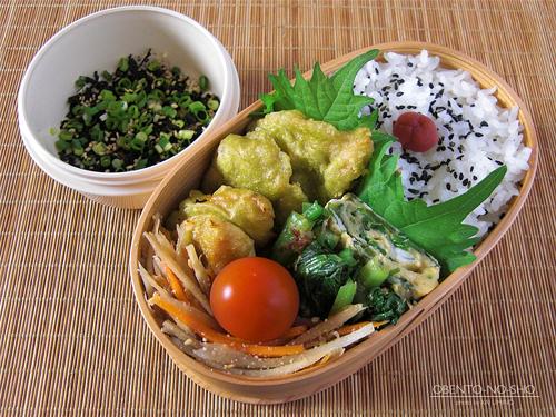 鶏ササミの茶天婦羅弁当01