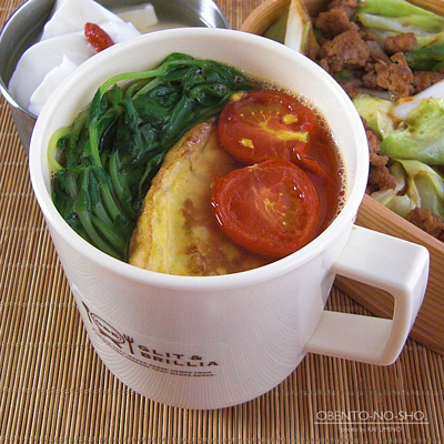 挽肉の回鍋肉弁当03