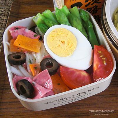 さんま塩焼缶のバジルパスタ弁当05