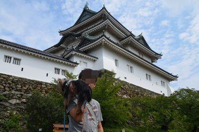 和歌山城とお兄ちゃん