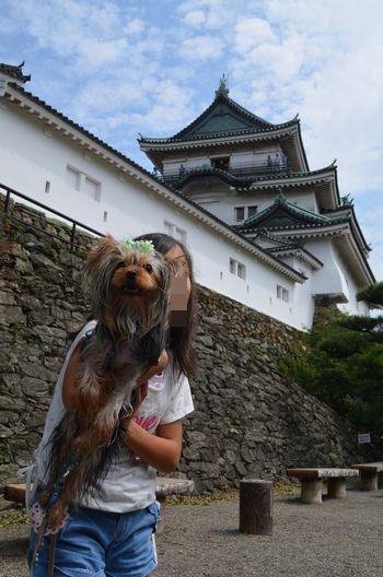 和歌山城とお姉ちゃん