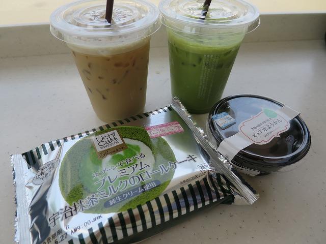抹茶ロールケーキ水ようかん (1)