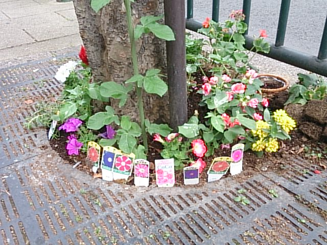 道端の小さな花壇