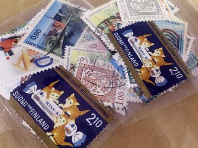猫ちゃんの切手。