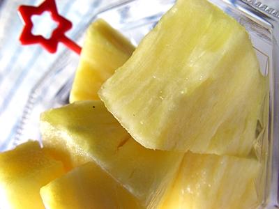 パイナップルのパ。