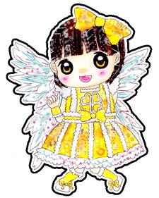 天使おりんステッカー