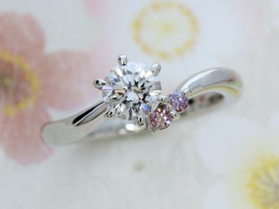 桜エンゲージリング(婚約指輪)