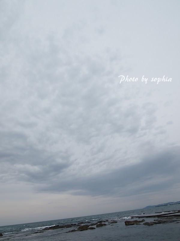 真冬の日本海と空