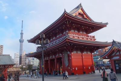 140310浅草寺とスカイツリー