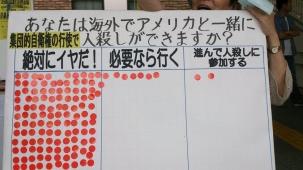 集団的自衛権シール投票