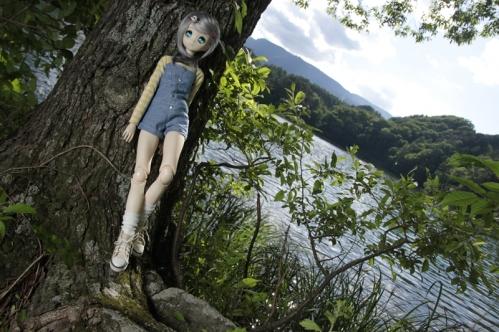 松原湖にて