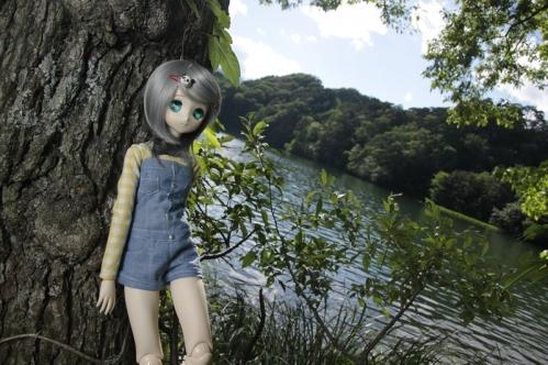 松原湖にて2