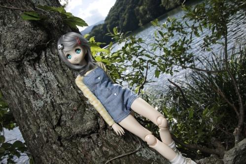 松原湖にて3