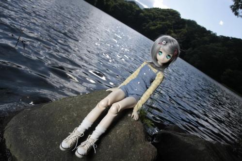 松原湖にて4
