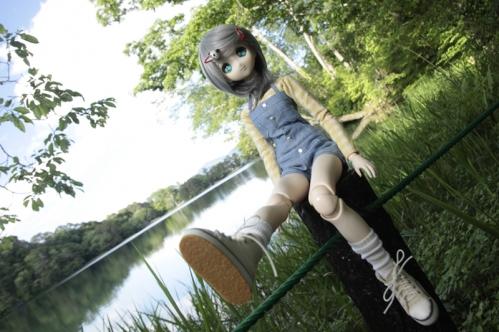 松原湖にて6