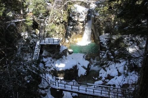 竜神の滝撮影地全景