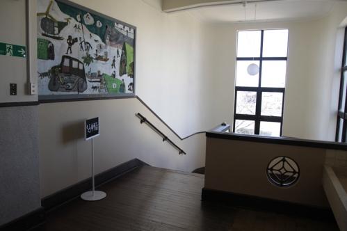 北階段2階入口