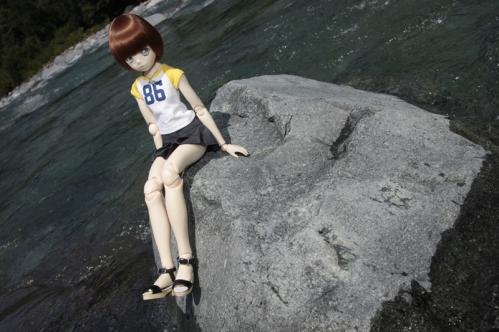 付知峡にて