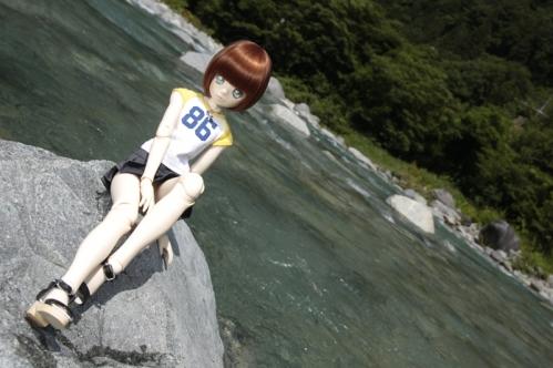 付知峡にて2