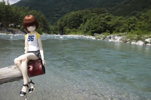 付知峡にて3