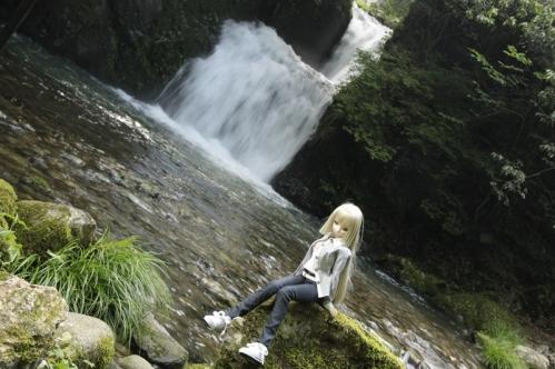 二見滝にて2