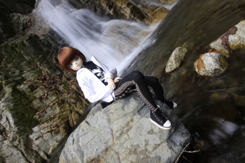 無名滝にて6