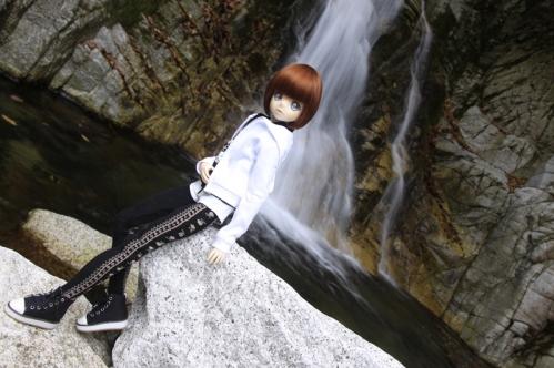 無名滝にて7