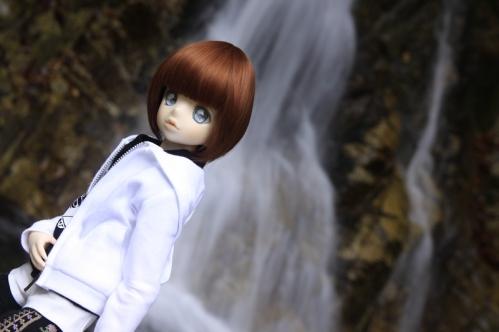 無名滝にて11