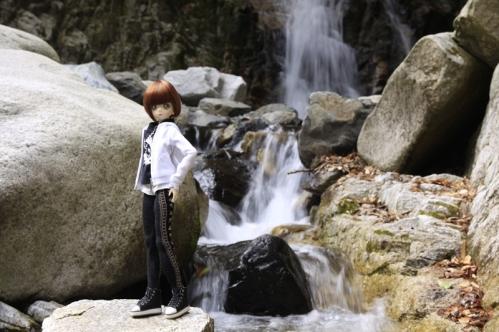無名滝にて16