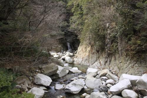 無名滝遠景