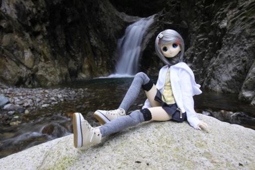 魚止滝にて