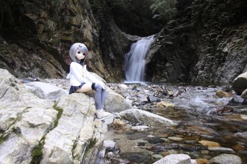 魚止滝にて3