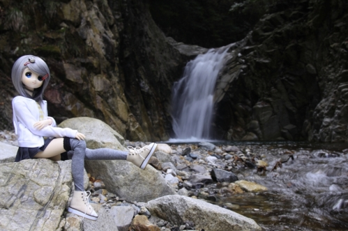魚止滝にて4