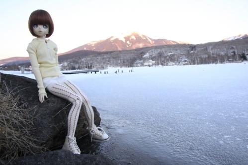 白樺湖にて