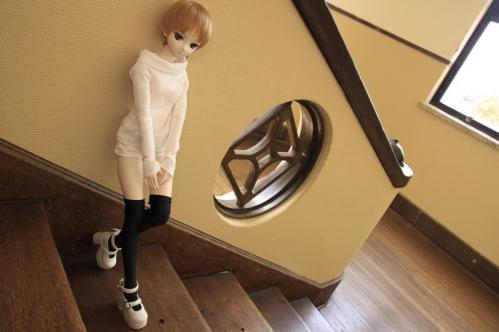 階段にて5