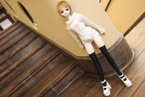 階段にて9