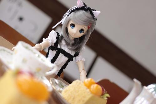 ケーキを前に