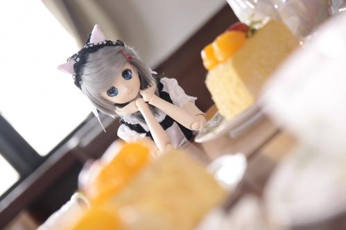 ケーキを前に4