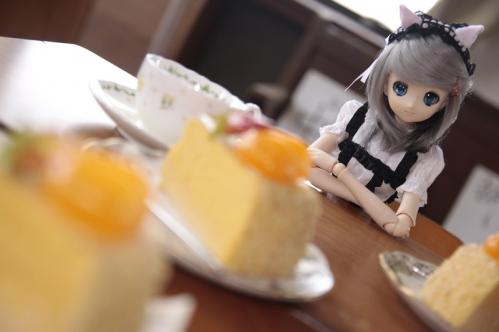 ケーキを前に5