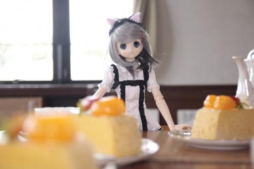 ケーキを前に6