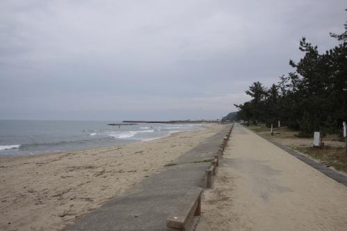 雨晴海岸全景