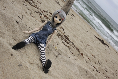 海辺にて4