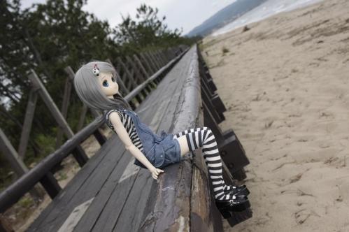 海辺にて5