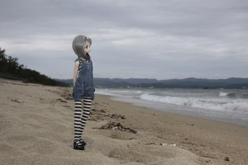 海辺にて7