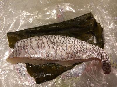昆布締めの鯛