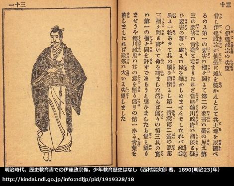 少年教育歴史はなし(1890)での伊達政宗