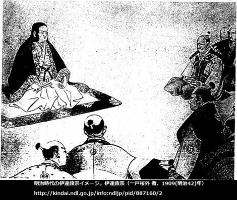伊達政宗(1909)での政宗イメージ