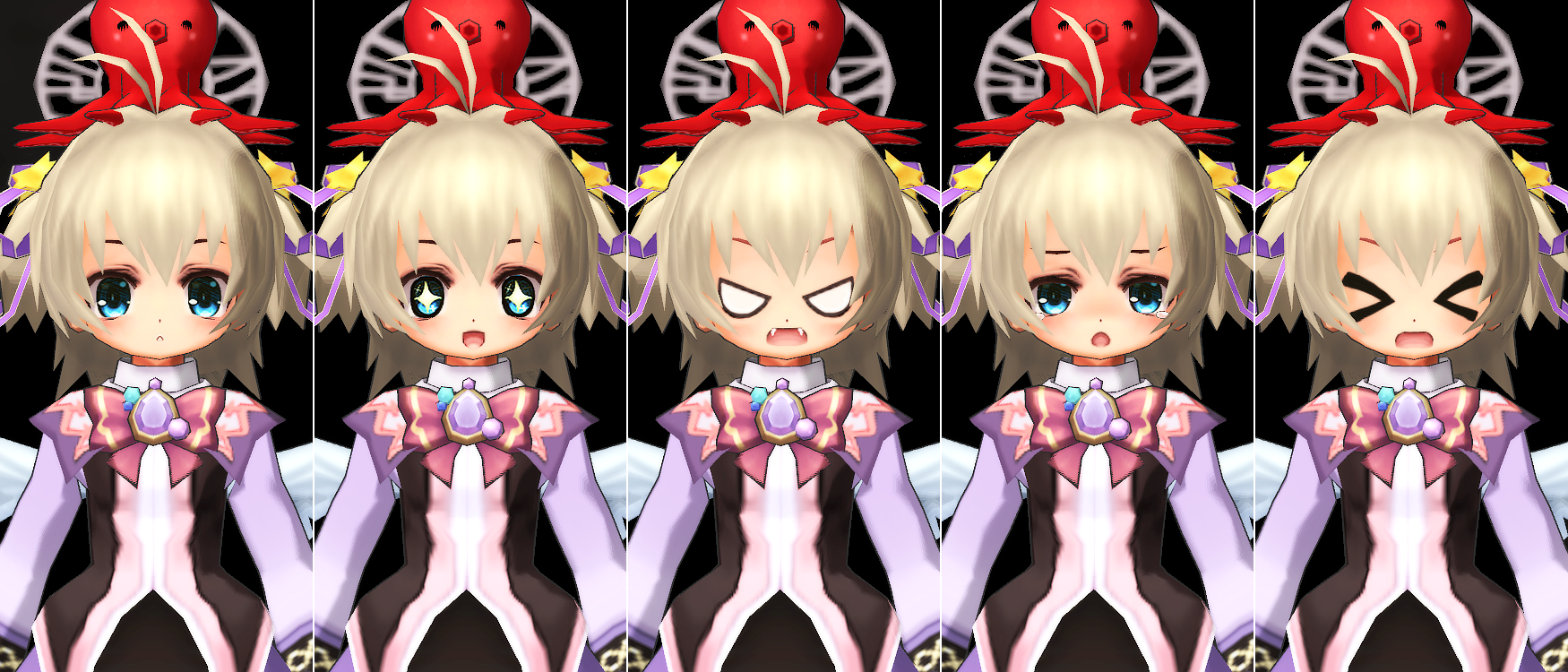 ベア・アルマ顔の表情