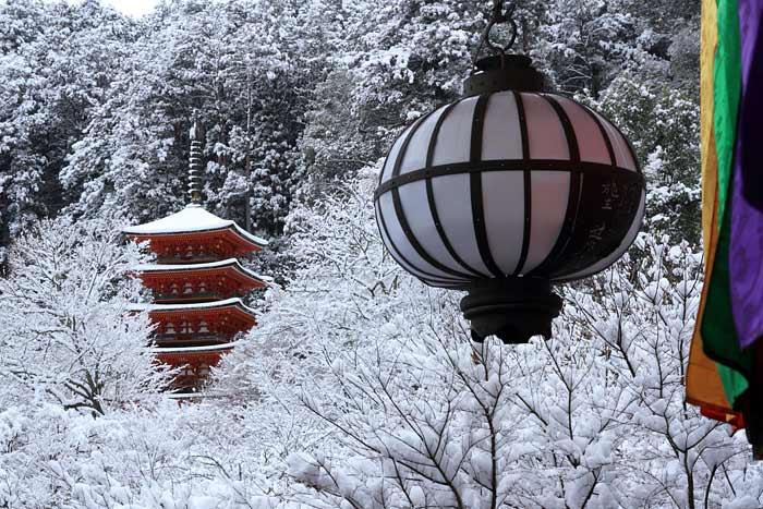 長谷寺 雪景色2