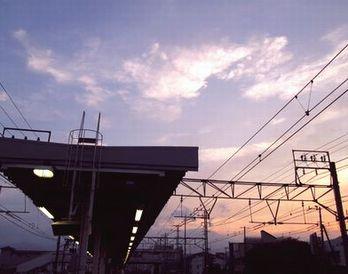 駅から見た空1